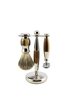 Edwin Jagger Set S8135211SR three piece shaving set horn nickel finish Kaliandee Shaving Shop.jpg